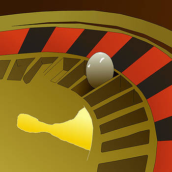 Roulette Wheel by Casino Artist