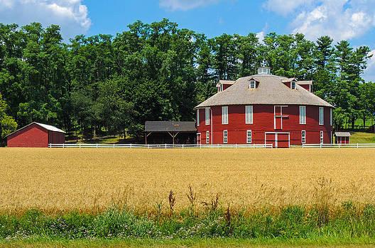 Round Barn by Gordon H Rohrbaugh Jr