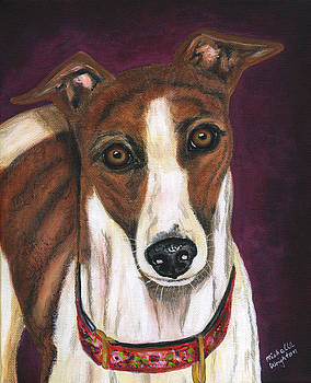 Michelle Wrighton - Royalty - Greyhound Painting