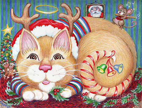 Rudolph The Pink Nosed Dear Cat by Dee Davis