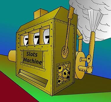 Rugged Steampunk Slot Machine by Casino Artist