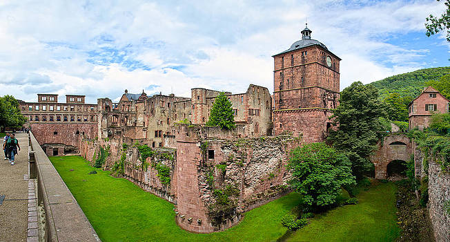 Ruins of Heidelberg castle by Travel Images Worldwide