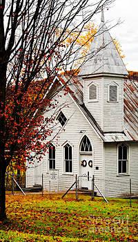 Kathleen K Parker - Rural Church in Fall - WV