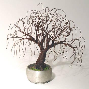 Rusted Bonsai - Wire Tree by Sal Villano