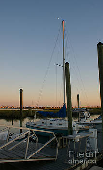 Sailboat in the sunset by Sherry Vance