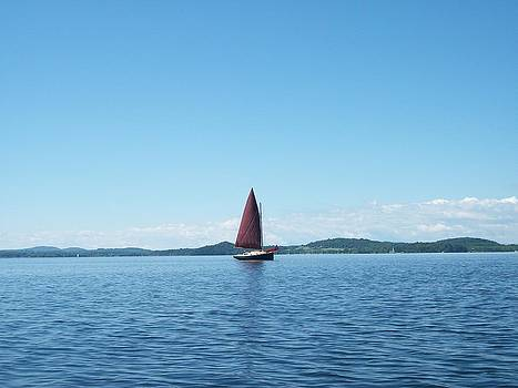 Sailboat on Mallets Bay by Jeff Moose