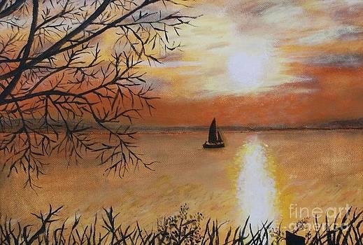 Sailboat Sunset by William Ohanlan