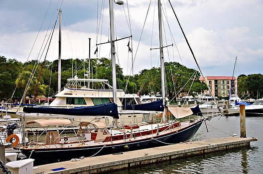 Sailboats at Dock by Susan Leggett