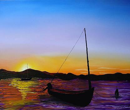 Sailing Sunset 1 by Portland Art Creations