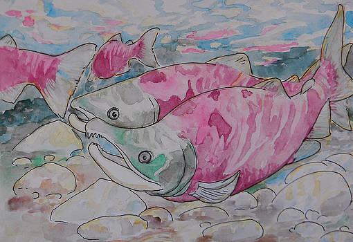 Salmon Spawn by Jenn Cunningham