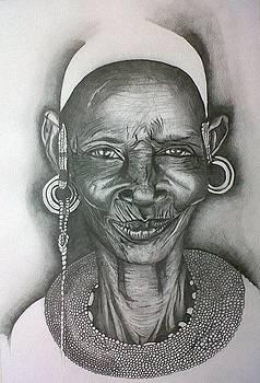 Samburu Tribe I. by Paula Steffensen