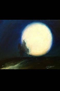 Samurai and Moon by Chikako Takizawa