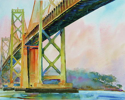 San Francisco Bay Bridge In Warm Summer Light by David Lobenberg