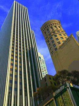 San Francisco Financial District by Linda Edgecomb