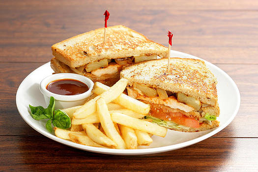 Sandwich And Fries by Multi-bits