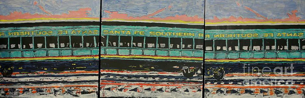 Santa Fe Southern Passrnger Car by Ray  Petersen