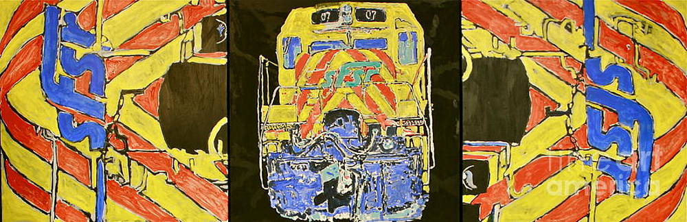 Santa Fe Southwester Rail Road Engine by Ray  Petersen