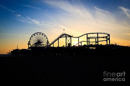 Paul Velgos - Santa Monica Pier Sunset Photo