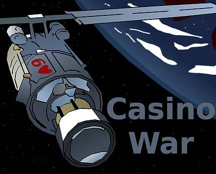 Satellite Casino War  by Casino Artist