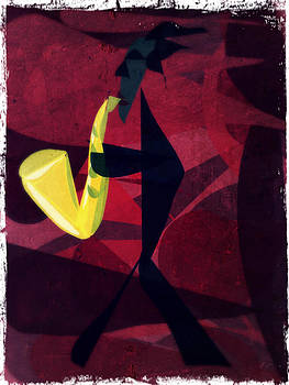Sax player by Betsey Walker Culliton