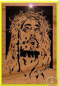 Scroll Sawed Jesus by Timothy Wilkerson