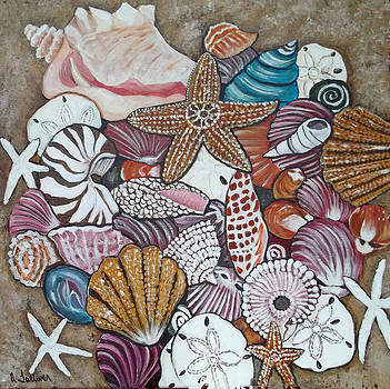Sea Shell Still Life with Nautilus by Norma Tolliver