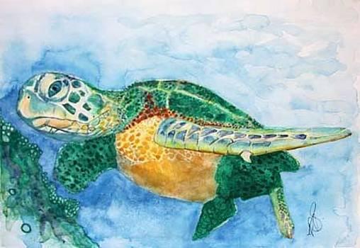 Sea Turtle 1. by Paula Steffensen