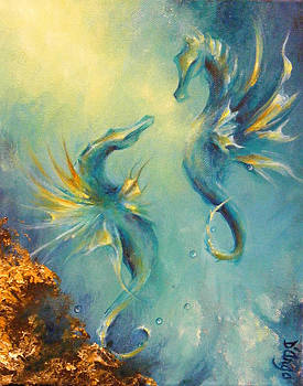 Seahorses in Love 4 by Dina Dargo