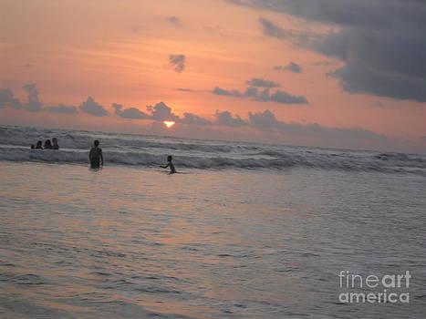 Seashore Sunset by Bgi Gadgil