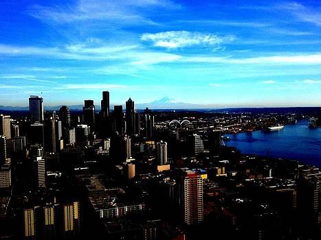 Seattle Cityscape by J Von Ryan