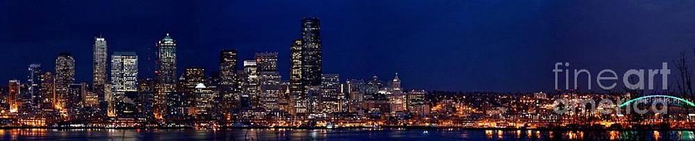 Seattle night sky by Wendy Emel