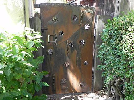 Secret Garden Gate by Steve Mudge