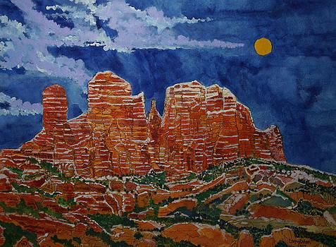 Sedona Arizona Moon by Donald McGibbon