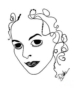 Barbara Drake - Self-Portrait Caricature