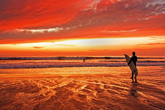Sensational Sunset Surf by Donna Pagakis