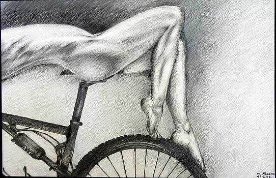 Sexy on Bike by HHolly Bazmi