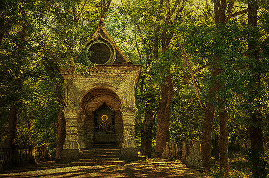 Jenny Rainbow - Shaded Chapel. Golden Green Series