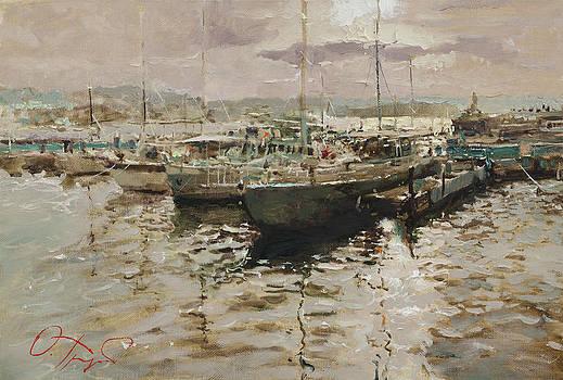 Silver Quay by Oleg Trofimoff