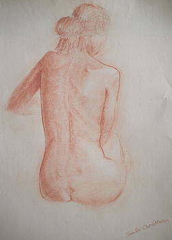 Sitting Woman's Back by Jennifer Christenson