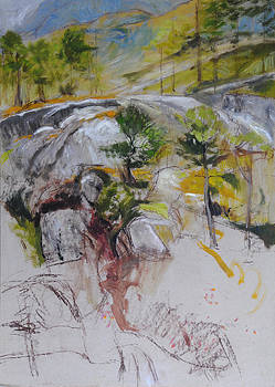 Harry Robertson - Sketch for Ogwen painting