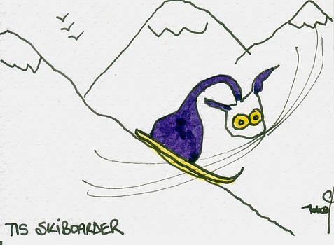 Ski Boarder by Tis Art