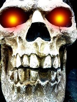 Skull Front by Edward Przydzial