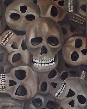 Skulls in basement  by Nicole Zoe Miller