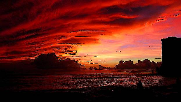 Sky suffused with colors by Viveka Singh