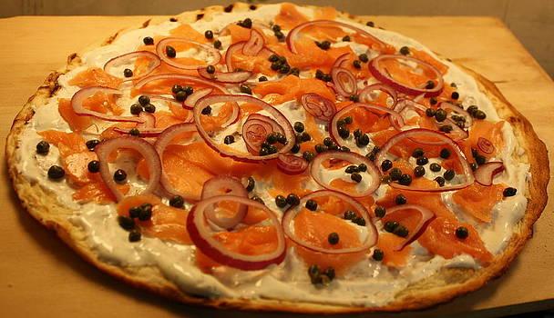 Anne Babineau - smoked salmon pizza