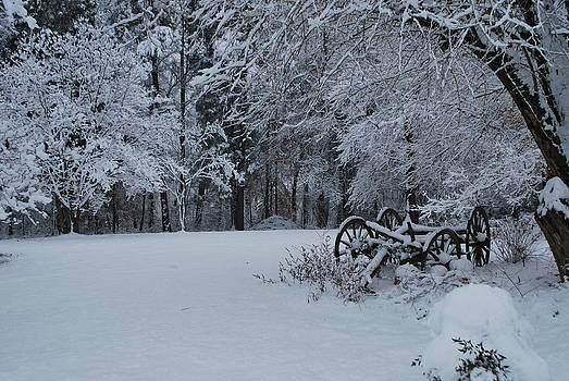 Snow at the Farm by Julie Strickland