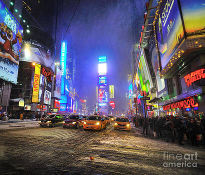 Snow Storm on Times Square by Darwin Lopez