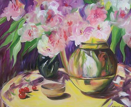 Soft Pink Flowers by Barbara Ruzzene