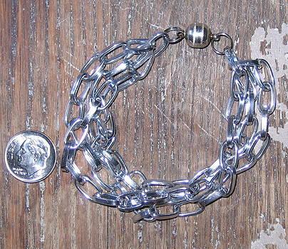 SOLD-Titanium Chain Bracelet by Elizabeth Carrozza