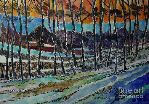 Somerset PA Snow Scene 2 by Donald McGibbon